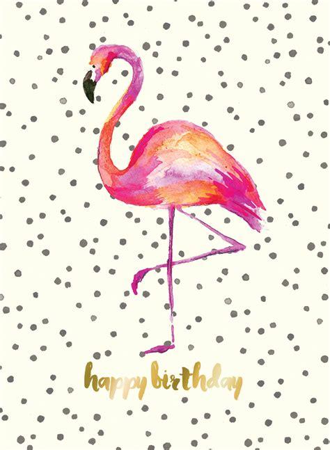 Happy Birthday Pink Flamingo Beautiful Flamingo Birthday Card The Paperdashery