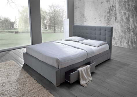 Bed Frame Queen Upholstered Fabric With Storage FOUR