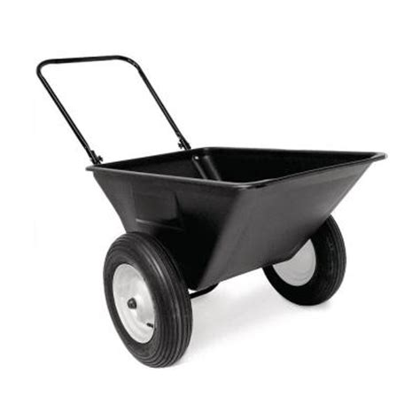precision 5 5 cu ft lawn cart with 16 in pneumatics