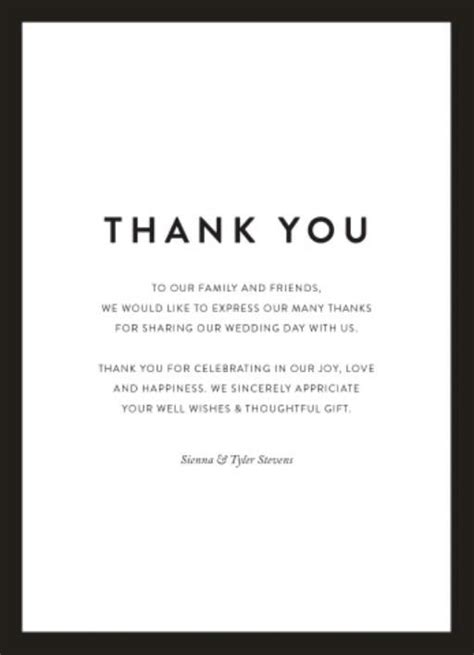 Thank You Note To Our Wedding Thank You Cards