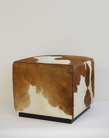 cowhide ottomans 17 best ideas about cowhide ottoman on cow