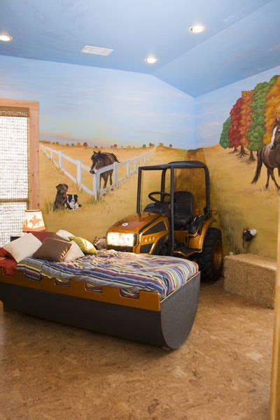 tractor room what boy wouldn t to a tractor in his room i some grown boys that would it