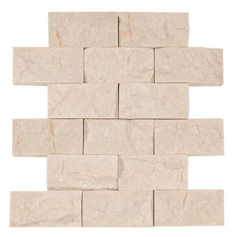 pearl brick travertine mosaic for fireplace wall basement pinterest travertine brick and
