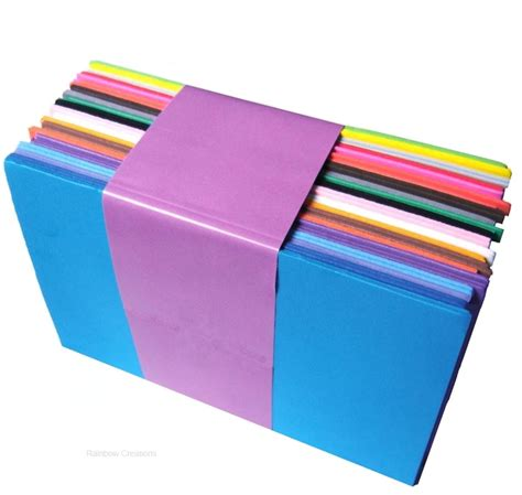 Craft Foam Paper - 40 sheets coloured craft foam a5 children s craft