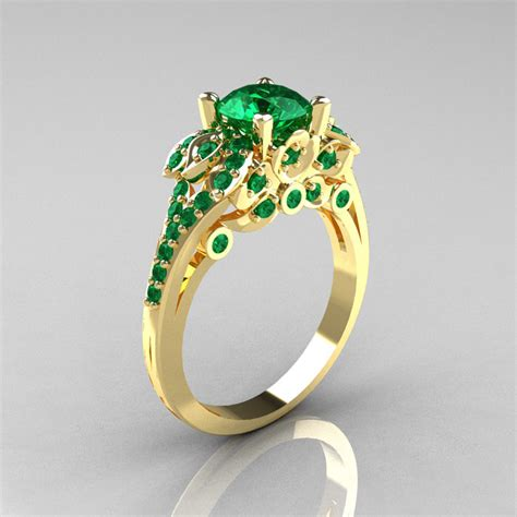 emerald solitaire rings wedding rings ideas