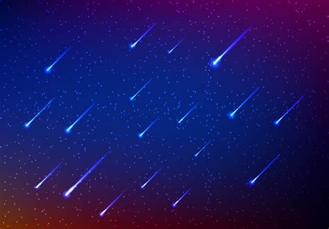 meteor shower in sky download free vector art stock