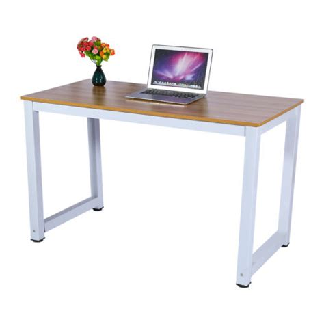 office desk for bedroom modern wooden metal computer pc home office desk study