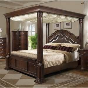 Matte Black Canopy Bed Elements International Tabasco King Canopy Bed Great