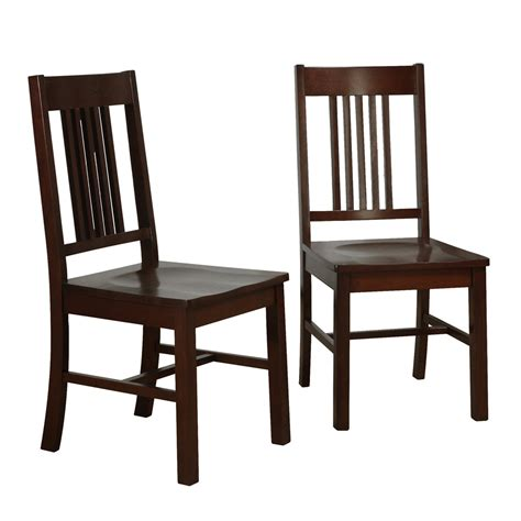 Dining Chairs Set Of 2 Wood Dining Chairs Cappuccino Set Of 2 In Dining Chairs