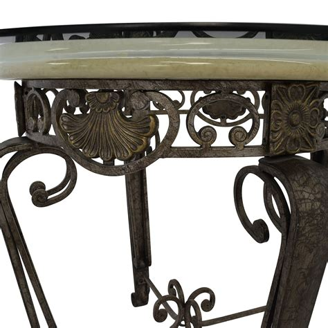 metal and glass dining table and chairs 84 scroll metal and glass top dining table tables