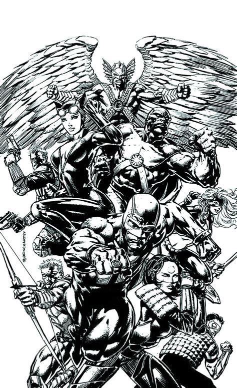 League Black White justice league of america 2 black white cover fresh