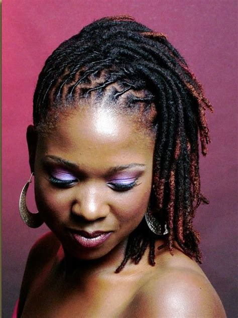 hairstyles for locs for women short dreadlock styles for black women dreadfully