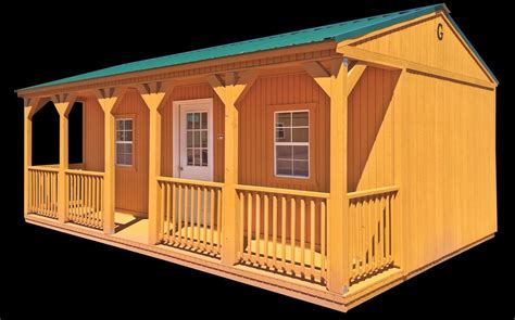 side porch cabin alto portable buildings alto portable