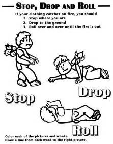 stop drop roll coloring sheet library storytime fire safety