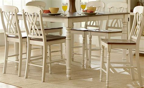Ohana Dining Table Homelegance Ohana Counter Height Dining Set White D1393w 36 At Homelement