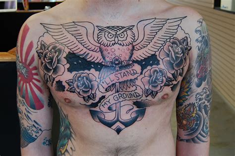 chest piece tattoos for females chest quotes for