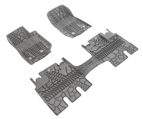 jeep slush mats all things jeep mopar jeep front rear slush mats for