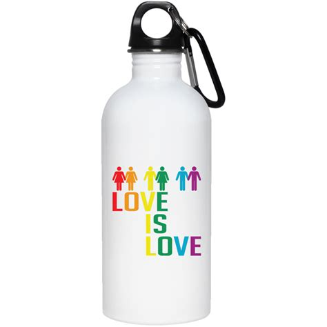 born perfect bottle love is love stainless steel water bottle march for lgbtq
