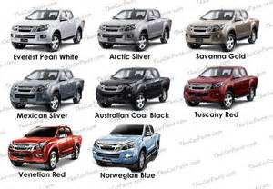 Isuzu Dmax Colours