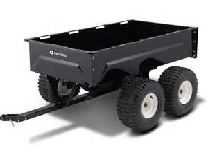 Tandem axle metal utility cart polaris sportsman