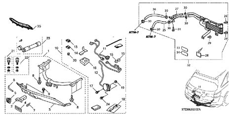 acura parts diagram 08l92 tz5 202 genuine acura trailer hitch 5000 lbs