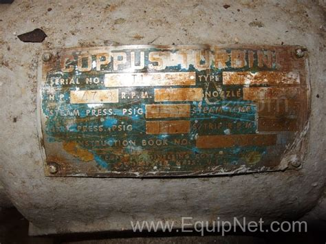 467719 dresser rand tf20l 3550 rpm coppus steam turbine