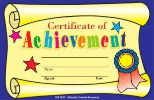 Certificate Of Outstanding Performance With A Formal Blue Frame Design » Ideas Home Design