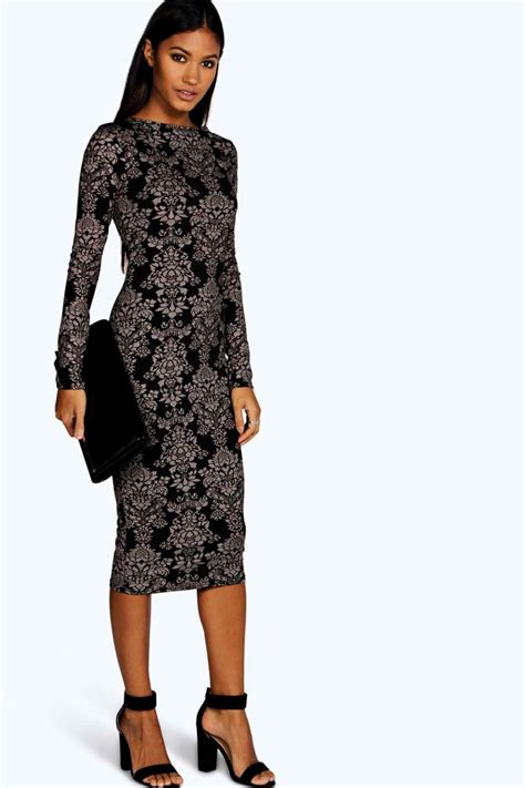Lovely Printed Bodycon Dress 40079 salma hayek covers up in eye catching vintage dress at