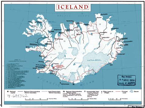 world map with iceland iceland