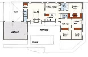 plan en forme de u avec piscine plans maisons