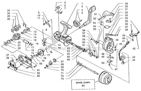 abu garcia parts diagrams abu garcia 863 parts list and diagram 86 2