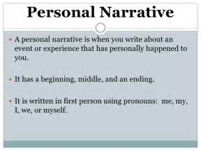 How To Write A Personal Narrative Essay by Personal Narrative Notes