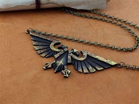 Aqila Brooch warhammer 40k emperor of mankind ancient aquila necklace pendant jewelry