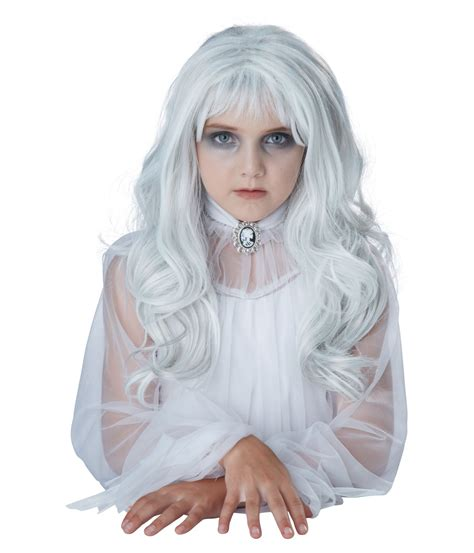 Pilgrim Decorations Ghostly White Hair Wig Scary Costumes