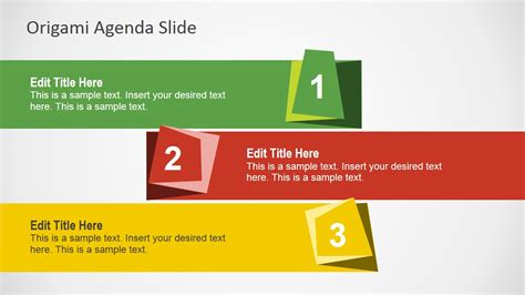How To Make A Paper Slide - free origami agenda slides for powerpoint slidemodel