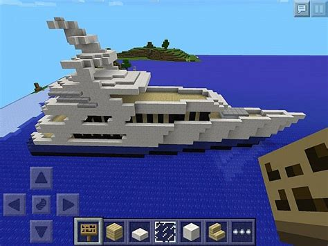 how to make a yacht in minecraft pe 3 diamonds