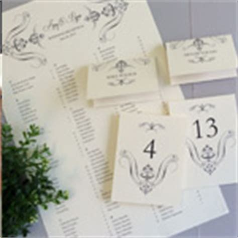 Wedding Table Setting Cards Templates by Regal Scroll Reception Set Table Numbers Place Cards