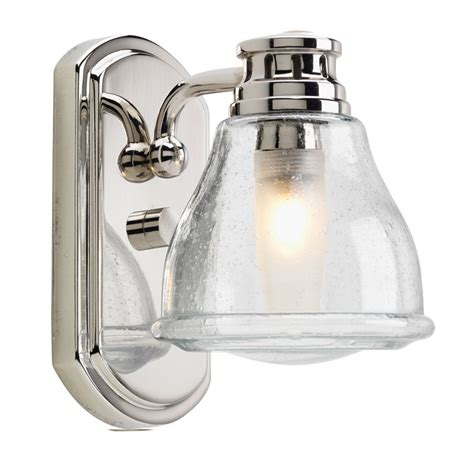 Traditional Bathroom Light Fixtures Progress Lighting P2810 15wb Polished Chrome Academy Single Light Traditional Bathroom Fixture