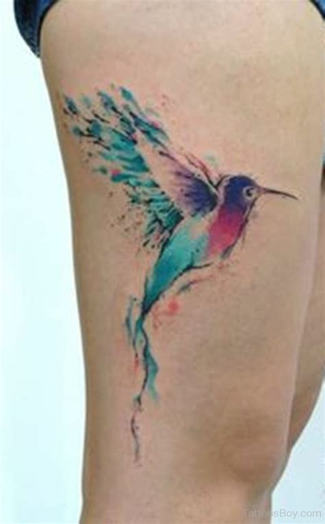 collection of 25 pretty hummingbird leg tattoo design