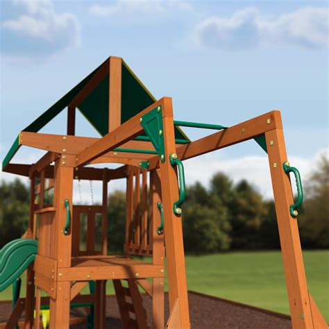 backyard discovery swing prairie ridge wooden swing set