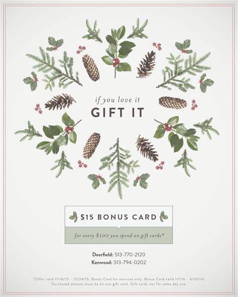 Aveda Gift Card - stop in for guest appreciation weekend pure concept salon spa