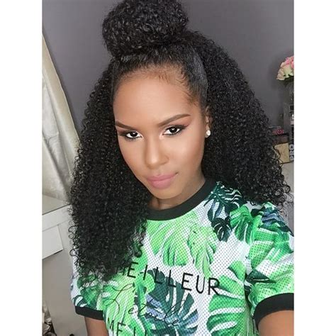 half bun half down hairstyles with weave curly half up half down bun hair pinterest half up