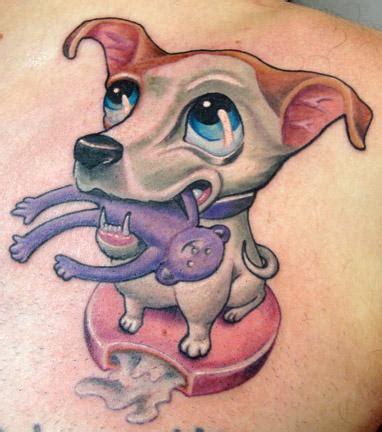 tattoo animal new school moon pai the dog by scott olive tattoos