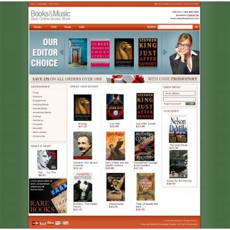 templates for bookstore website book store magento template templates master