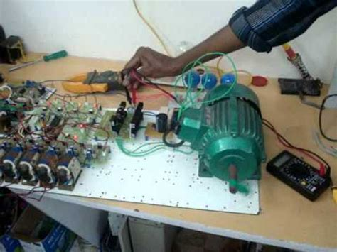 phase induction motor speed control vfd youtube