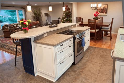 kitchen with stove in island kitchen island with stove top seating sink and oven ranges