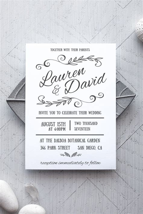 Printable Wedding Invitation Template Rustic Alchemie Press Wedding Invitation Sles Free Templates