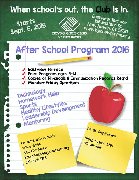 Free After School Program Flyer Template