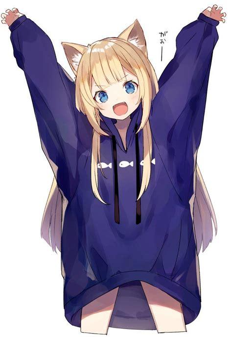 anime japanese love kawaii anime girl catgirl character illustration anime