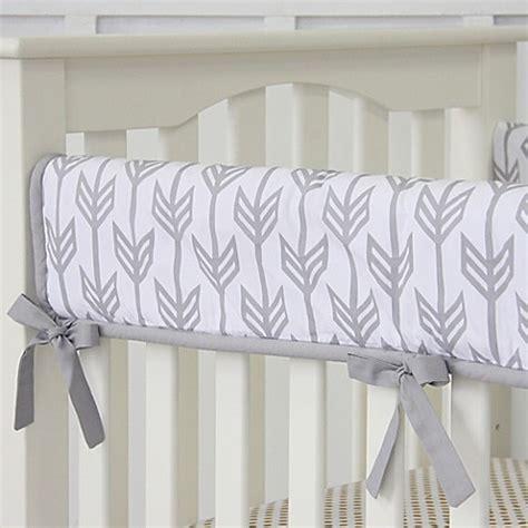 Bedding Car Nursing Cover caden 174 arrow crib rail cover in grey buybuy baby